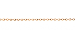 Anker oval diamantiert Rotgold 750 ca. 1,7mm 38 cm